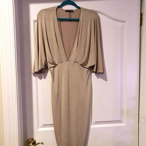 Boohoo Kimono Split Sleeve Midi Dress